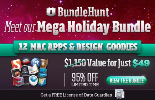 Bundle Hunt Holiday Bundle mit StuffIt Deluxe, iDocument und Mac Flux für 49,99$ (38,35€) – 95% Ersparnis