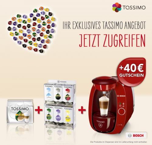 TASSIMO T20 in verschiedenen Farben zu einem Vorzugspreis von 59,99€ kaufen.