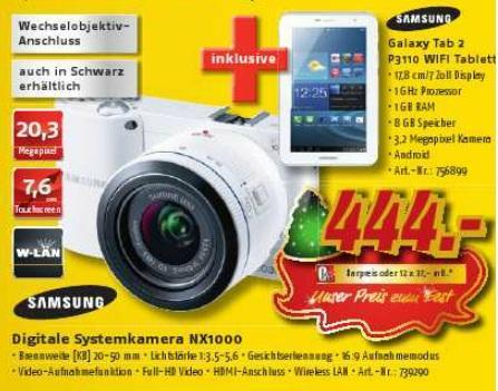 [LOKAL evtl. Bundesweit] Medi Max Berlin Samsung NX1000 Kamera + Galaxy Tab 2 8GB WIFI
