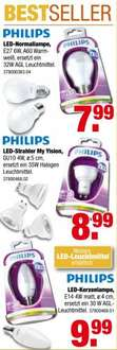Lokal (M'Gladbach) Philips LED Leuchtmittel