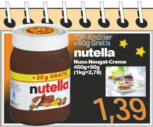 [lokal] Nutella 500g für 1,39€ bei Aktiv & Irma (Oldenburg)