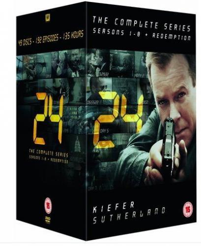 24 - Box mit allen Staffeln (1-8) + Redemption - nur Englisch - insgesamt 49 DVDs