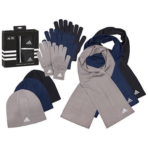 Strick Winter Set Beanie von Adidas mit Mütze, Schal und Handschuhen für nur 27,90