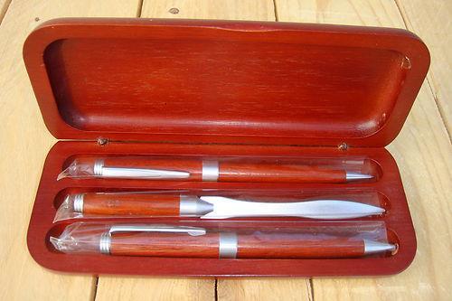 3-Teiliges Schreibset aus Rosenholz mit Versand für nur 6,80 EUR