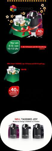 Bosch Tassimo ab 40 Euro mit 40-Euro-Tassimo-Gutschein + 2 WMF Chai Latte Gläser etc.