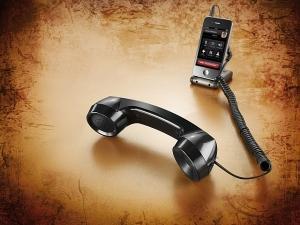 Hochwertiger Retro-Design Telefonhörer, schwarz