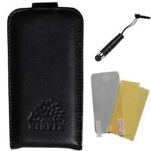 Echt Ledertasche + Schutzfolie + Stift  für iPhone 4 / 4s bei Amazon sehr günstig! MIT AMAZON PRIME