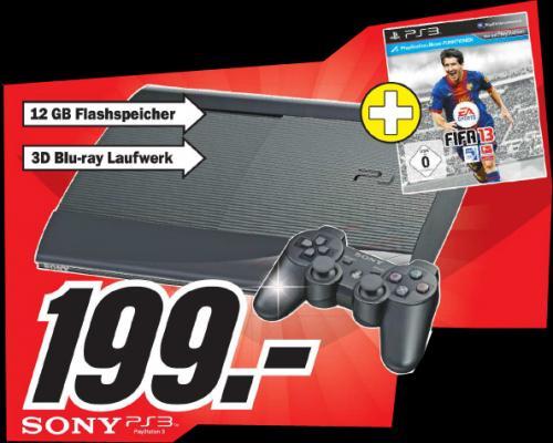 Playstation 3 12 GB inkl. Fifa13 für 199 Euro im MediaMarkt Köln Chorweiler