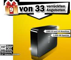 Western Digital 1TB Elements 2,5 externe 3.0 USB Festplatte