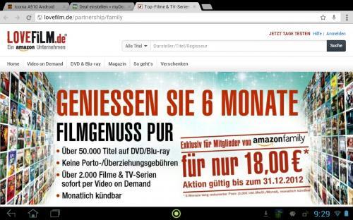 6 Monate Filmgenuss mit Lovefilm für 18€ - Amazon Family Mitglieder
