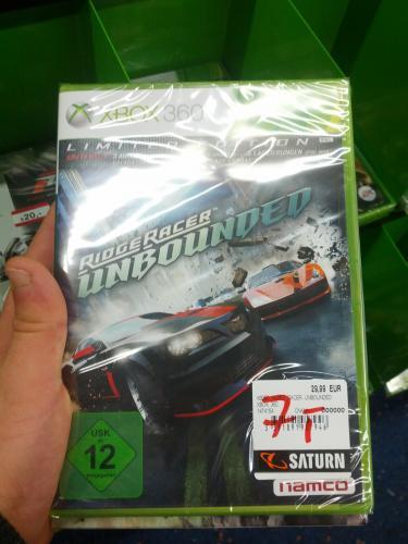 [Lokal] Ridgr Racer Unbounded Xbox 360 für 7€ @ Saturn Berlin-Zehlendorf