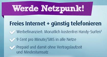Kostenlose Internet-Flatrate + Prepaidkarte o2 Netzclub