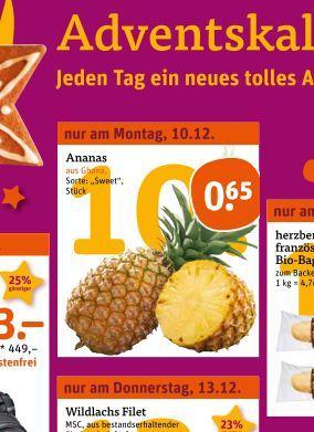 Ananas 0.65€ tegut nur Montag