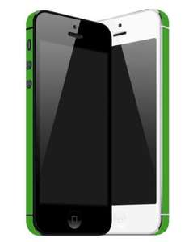 iPhone 4, 4s und 5 Seiten Folie in GRÜN für 2,95€