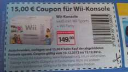 "Offline - 15,00 Euro Coupon für Wii-Konsole ""Family Edition"" bei Müller"