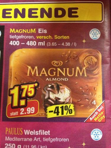 [Bundesweit?] Magnum 4-er für 1,75€ im Netto Marken-Discount