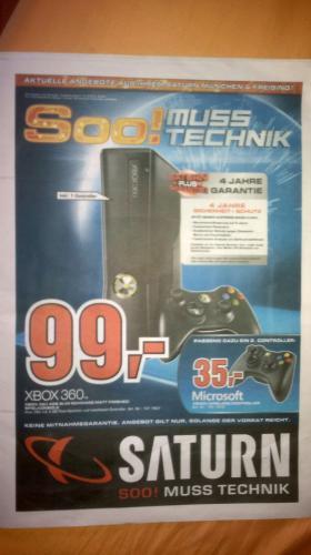 [Lokal] XBOX 360 Slim 4GB schwarz bei Saturn in München u. Freising