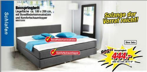 180er Boxspring-Bett für 444€ @ poco , anscheinend bundesweit