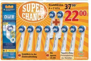 [Lokal: Globus Wiesental ] Oral B Ersatzbüsten 10 Stück für 22 €