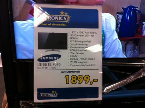 Samsung UE55 ES7090 Smart TV für 1899,-