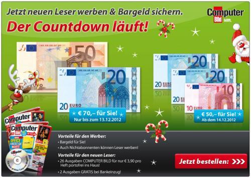 Computerbild Abo mit DVD + 70€ Gutschrift