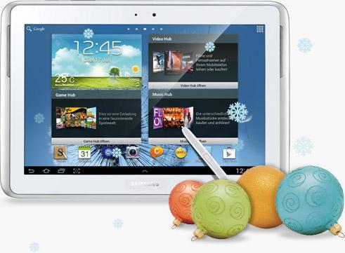 Samsung Galaxy Note 10.1 WIFI + 3G, Internet Flat, kostenloser Versicherung für 480 €