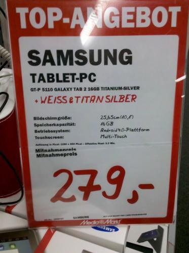 [deutschlandweit]Samsung Galaxy Tab 2 10.1 WiFi; Mediamarkt/Saturn