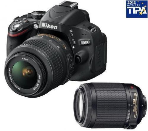 NIKON D5100 + Objektiv AF-S VR DX 18-55 mm + Objektiv  55-200 mm + Sandisk Extreme SDHC 16gb Class 10