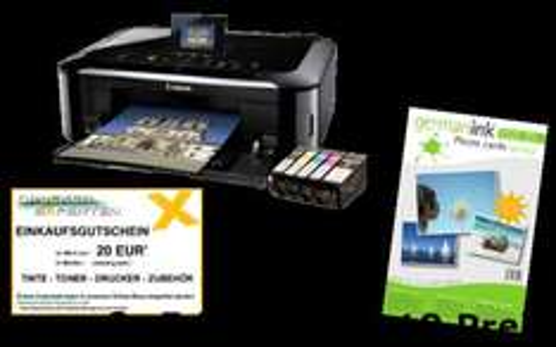 Canon MG5350, Einkaufsgutscheine und Fotopapier zu gewinnen