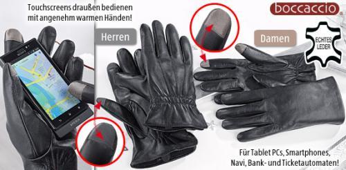 [Aldi-Süd] Smartphone Lederhandschuhe