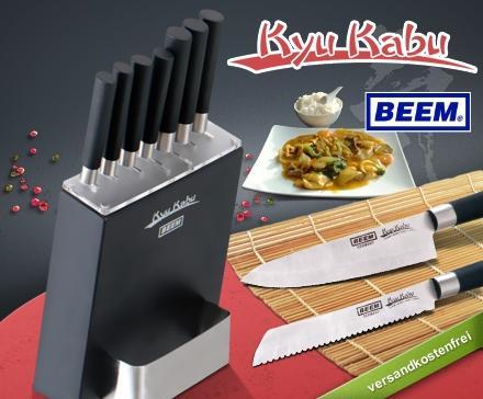 Kyu Kabu Messerset für 24,95€ anstelle idealo 29,94€ - Amazon Verkaufsrang #1