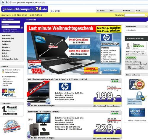HP Elitebook 6930p Gebraucht mit Garantie
