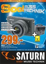 [Lokal Freiburg] Nikon 1J1 Schwarz + 10-30mm Objektiv + 4GB Speicherkarte + Fototasche