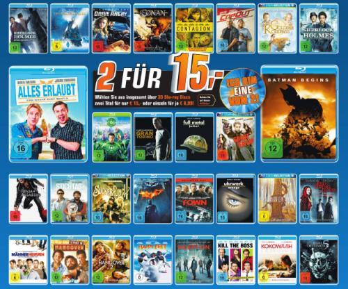2 Blu-rays für 15 Euro lokal im Saturn Gelsenkirchen