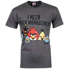 "(UK) Angry Birds T-Shirt ""I need Anger Management"" für 11.10€ @ Zavvi"