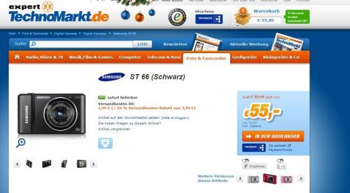 [Expert Technomarkt] Samsung ST 66 Digitalkamera - Idealo 69€