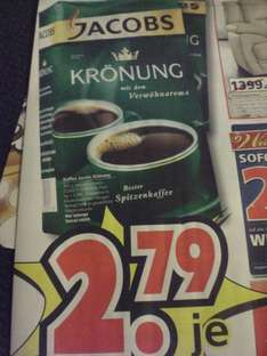 [lokal] Jacobs Krönung für 2,79€  (500g) beim Segmüller Weiterstadt
