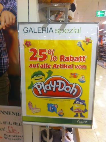 25% auf alle Play-Doh  Artikel im Galeria Kaufhof [lokal]