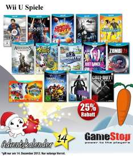 GameStop - Heute 25 % auf alle Wii-U Spiele