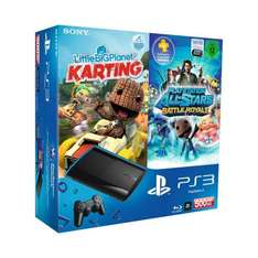 PlayStation 3 Konsole mit 500 GB + DualShock 3 Wireless Controller + LBP Karting + Battle Royal für 259,97 bei Amazon
