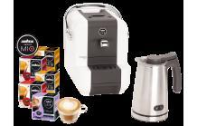Wieder da! SAECO LAVAZZA A Modo Mio White Set + Milchschäumer + 80 Kaffeekapseln