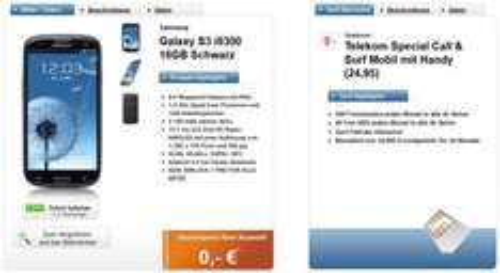 SGS3 16GB + Telekom Special C&S Mobil @ Logitel