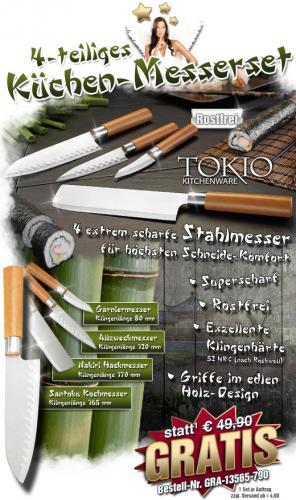 TokioKitchenWare Messer im Wert von 50€ geschenkt!??