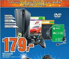 [Lokal] XBOX 360 250GB, Skyrim, Forza 4, Headset, Wireless Controller, 1 Monat Gold @ Saturn Jena