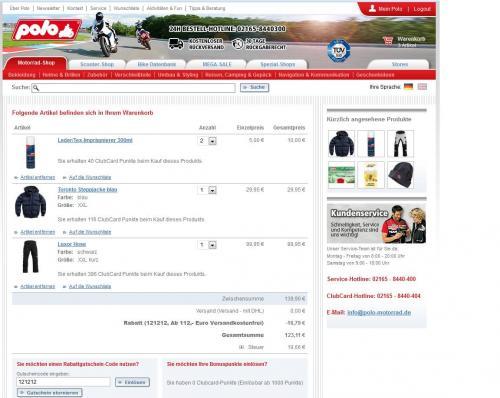 Polo-Motorrad 12% + 20% Rabatt auf alles !!