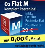 o2 Flat M mit o2-Flat, Festnetzflat und Festnetznummer komplett kostenlos