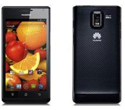 Huawei Ascend P1 Smartphone (10,9 cm (4,3 Zoll) Touchscreen, 8 Megapixel Kamera, Android 4.0) schwarz