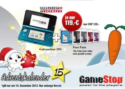 Nintendo 3DS (Gebraucht) + DS Pack Pure V2 für 119€ @Gamestop