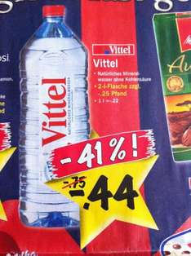 Vittel 2l Flasche 44Cent bei LIDL