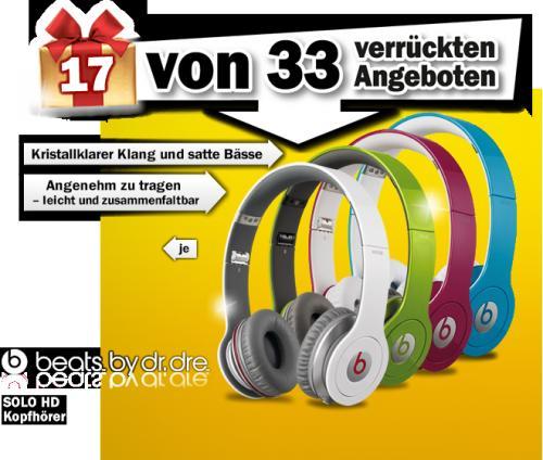 MM: BEATS SOLO HD (online) Adentskalender Angebot für 111,00 Euro
